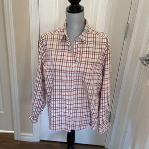Alia Petites Plaid Button Down Shirt